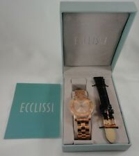 Ecclissi Rose Gold Sterling Silver Watch 33761