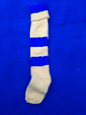 Yellow Blue  Hoops  Football Socks rugby socks  youths size 1-6