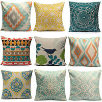 EG_ Home Decor Geometric Flower Cotton Linen Throw Pillow Case Cushion Cover Sho