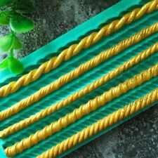 Silicone mold rope cake sugarcraft decorating mould chain tool shape line