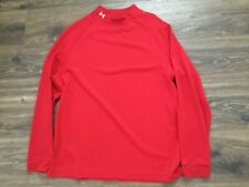 UNDER ARMOUR MOCK NECK RED SHIRT L/S MENS M BASE LAYER SHIRT RARE COLD GEAR USED