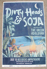 DIRTY HEADS & SOJA Live Red Rocks - Colorado 2017 Concert Flyer 11x17 Gig Poster