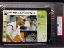 The 1999 U.S. Tennis Open/Agassi     Grolier Card #132-8     PSA GEM Mint 10