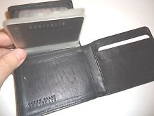 Perry Ellis Southern Genuine Leather Billfold Wallet, Black