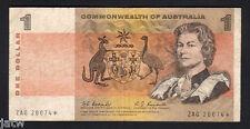 Australia R-72S. (1967) One Dollar..Coombs/Randall - STAR Note.. ZAG Prefix.. aF