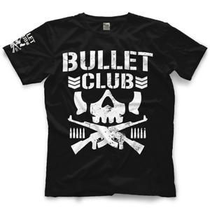 Official NJPW - New Japan Pro Wrestling Black BC Bullet Club Classic T-shirt