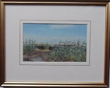 JOHN CYRIL HARRISON 1898-1985 ORIGINAL SIGNED PAINTING 'LANDSCAPE WITH REEDS'