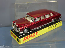 DINKY TOYS MODEL No.128 MERCEDES- BENZ 600 PULLMAN LIMOUSINE  ( MET. RED)  MIB
