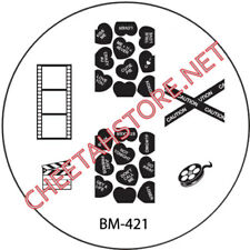 Stamping plaque Bundle Monster BM421 pour vernis ongles