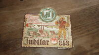 OLD 1950s GERMAN BIER BEER LABEL, HUMMER BREWERY DINGOLSHAUSEN GERMANY, JUBILAR