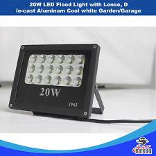 20W LED Flood Light with Lense, Die-cast Aluminum Cool white Garden/Garage