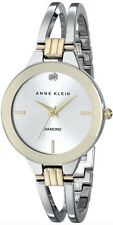 Anne Klein Watch * 1943SVTT Diamond Gold Silver Steel Bangle COD PayPal