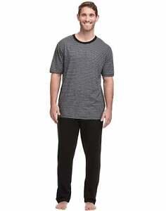 Hanes Men's Short Sleeve Tee and Pant Lounge Set