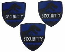 Jurassic World Security Embroidered Iron On Patch Set of 3 Patches