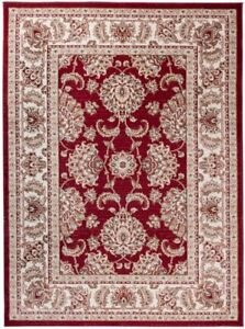 Tapiso Let's Rug Mat Colorado Collection Zeke Red, Classic Design, 60 x 100cm