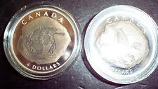 Canada 2010 $4 Euplocephalus and Dromeosaurus Silver Proof Dinosaur Coins