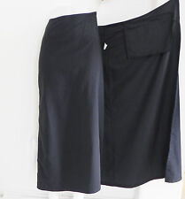 Silver Brand Skirt Full Length Wrap Black Polyester Many Pockets Size M/L