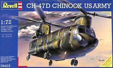 Revell 1:72 CH-47 D Chinook US Army Helicopter Plastic Model Kit #04413