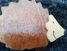 Crafted Wood Hedgehog Brooch