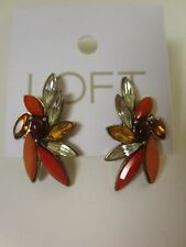 Ann Taylor Red Pink Peach Wing Stud Earrings NWT $29.50 New in stores now