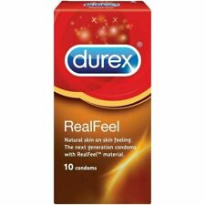 10pic Box Durex Condoms RealFeel Thin Natural skin on skin feeling New