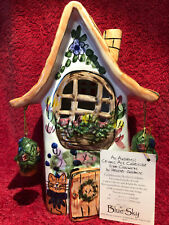Ceramic Cottage from Blue Sky Clayworks by Heather Goldminc