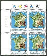 FRANCE 1990 -  Bloc de 4 en coin N° 2662 -  Cinquantenaire de l'IGN