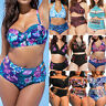Womens High Waist Bikini Set Padded Swimsuit Bathing Suit Swimwear Plus Size
