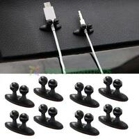 8Pcs Car Wire Cord Clip Drop Cable Holder Tidy Fix Organizer Lead USB Charger