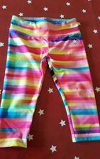 NUOVO con etichetta Converse Rainbow Stripe Capris 5-6y