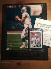 Dan Marino Ungraded Rookie Card Plus Autographed 8X10 on wood plaque With COA