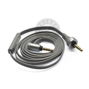 Grey Replacement Audio Cable With Mic Remote For Sony MDR X10 MDRX10 Headphone