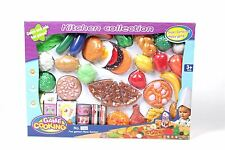 Vinsani Kids Kitchen Food Cooking Pretend Playing Toy Set Age 3+ Y 40 Pieces