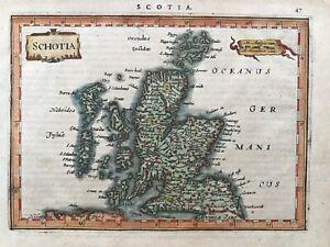 1628 Antique Map; Schotia / Scotland by Jansson / Mercator