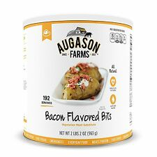 Augason Farms Emergency Food Bacon Bits Vegetarian Meat Substitute 34 Oz