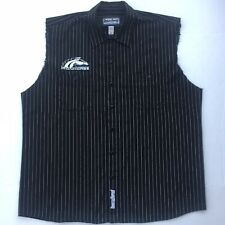 New ListingAmerican Ironhorse Motorcycles Button Down Shirt Sleeveless w/ Patches Size Xl