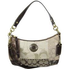 COACH PATCHWORK DEMI CROSS BODY Shoulder Bag Purse F20054 Brown Cream