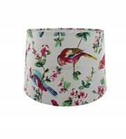 White Vibrant Rio Fabric Empire Drum Lampshade Table or Ceiling Light Shade 28cm