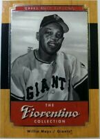 2001 01 Upper Deck Legends The Fiorentino Collection Willie Mays #F4, Giants