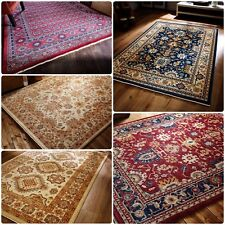Traditional Oriental Persian Style Thick Rug in Various Sizes and Colours Carpet