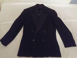 Mens 1950s Montague Burton Black Dinner Suit (Tuxedo) Uk 40 Chest