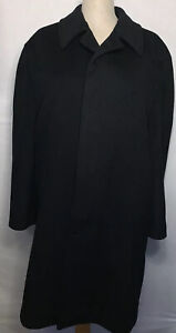 Nordstrom Black Coat Jacket Made in Italy 42S By The Jacob Siegel Company