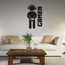 Game Games Room Decor Cool PS4 Xbox Quote Wall Art Sticker Decals Vinyl Decor US
