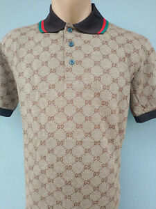 New Gucci Polo men's g models Fast Shipping 2-4 Days Color Gray Brown