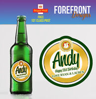 Personalised Beer bottle labels Perfect Birthday/Wedding/Graduation Gift