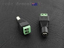 DC Power Male & Female Pair  2.1mm x 5.5mm DC Power Jack Adapter Plugs - Arduino