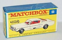 Matchbox Lesney No 8 FORD MUSTANG Empty Repro F style Box