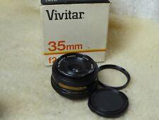 Vivitar 35mm f2.8 Wide-angle manual focus lens M42 mount + caps & Skylight