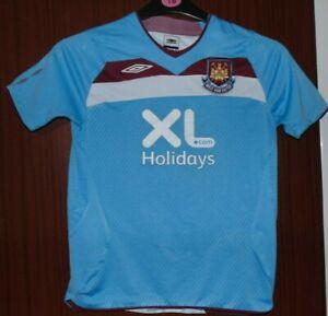 West Ham United Away Shirt 2008-2009 Kids Size SB Worldwide Post! XL Holidays