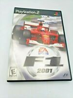 F1 2001 (Sony Playstation 2, 2000) Free Shipping Complete with manual